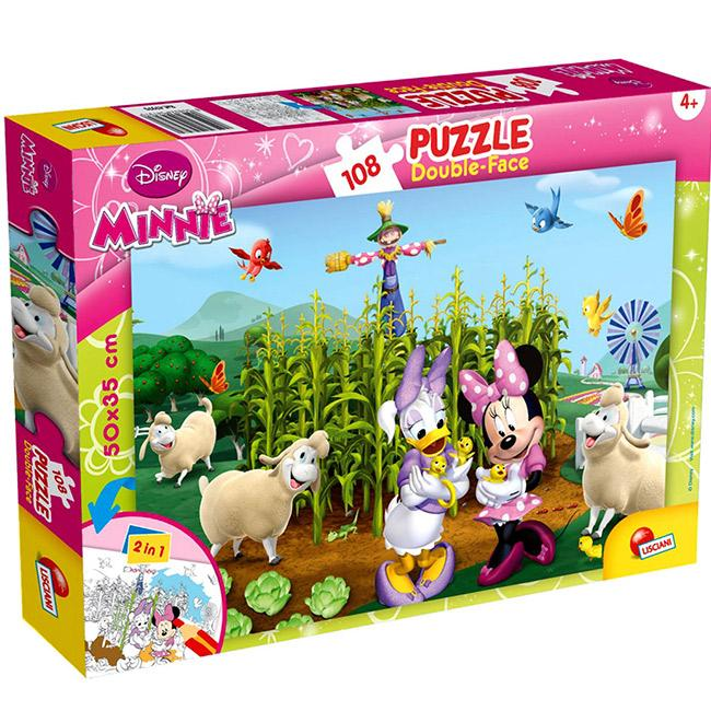 DOUBLE-SIDED PUZZLE - MINNIE AND MICKEY MOUSE, 47970 LISCIANI, 8008324047970