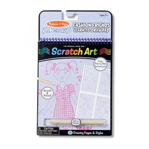Scratch Art Fashion Friends Learn-to-Draw Pad (On the Go)