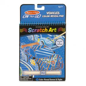 On the Go Scratch Art Color Reveal Pad - Vehicles