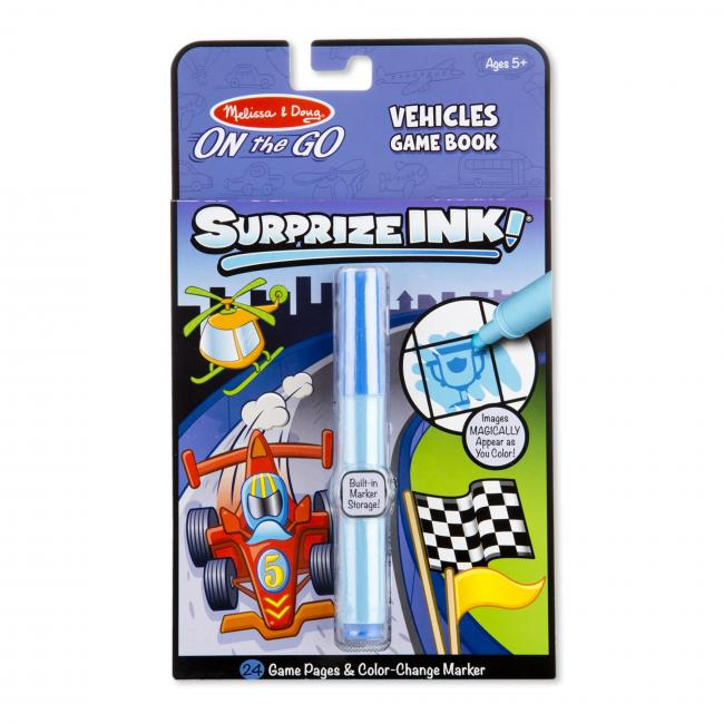 Melissa & Doug – Surprize Ink! Vehicles – On the Go Travel Activity Book