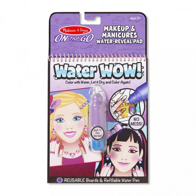 Melissa & Doug Makeup and Manicures Water Wow Coloring Book
